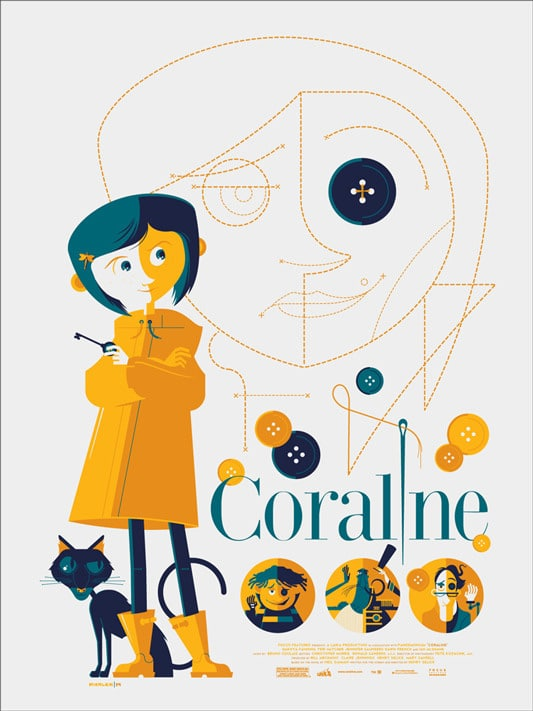 Coraline Poster by Tom Whalen