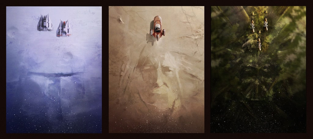 Andy Fairhurst Star Wars Print Set