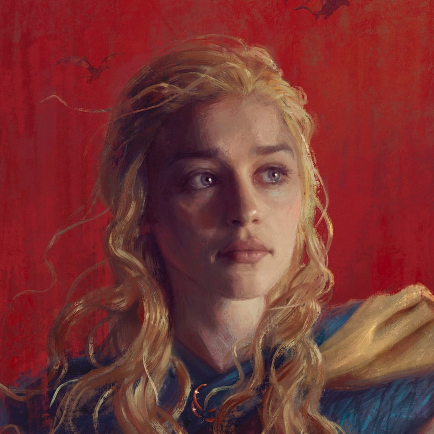 Daenerys Game of Thrones Portrait Detail
