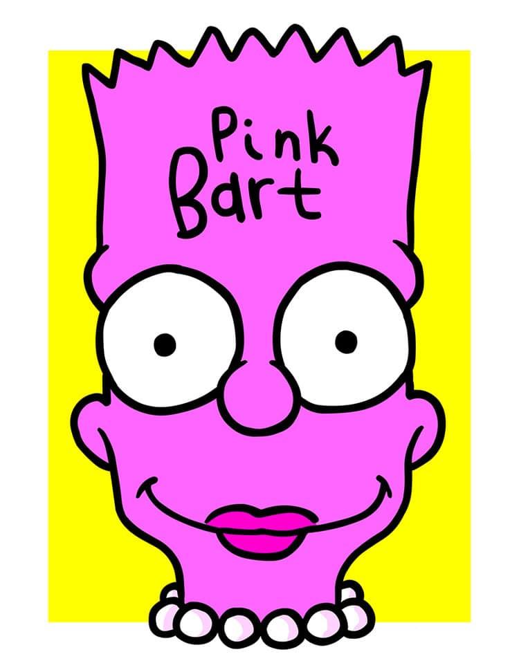 Pink Bart Simpsons Print