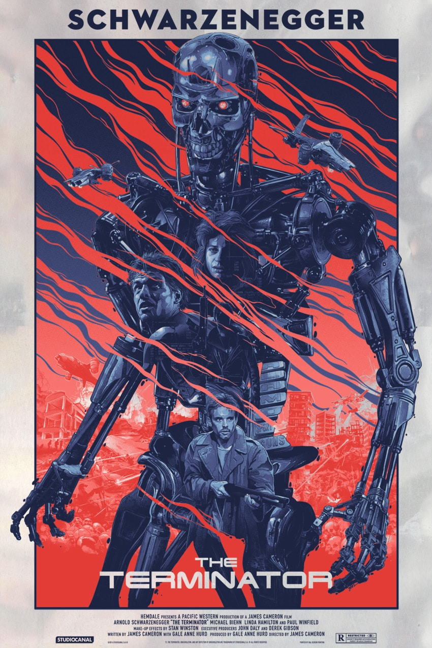 The Terminator Movie Poster Foil Variant