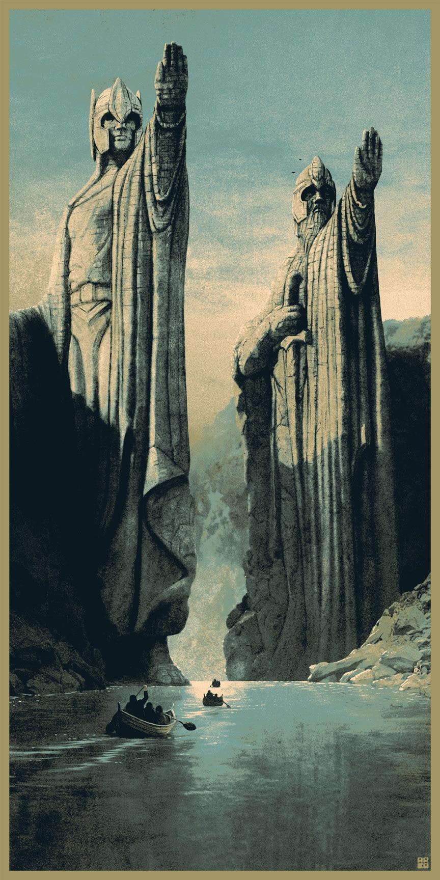 Lord of the Rings Print Set from Matt Ferguson - Missed Prints