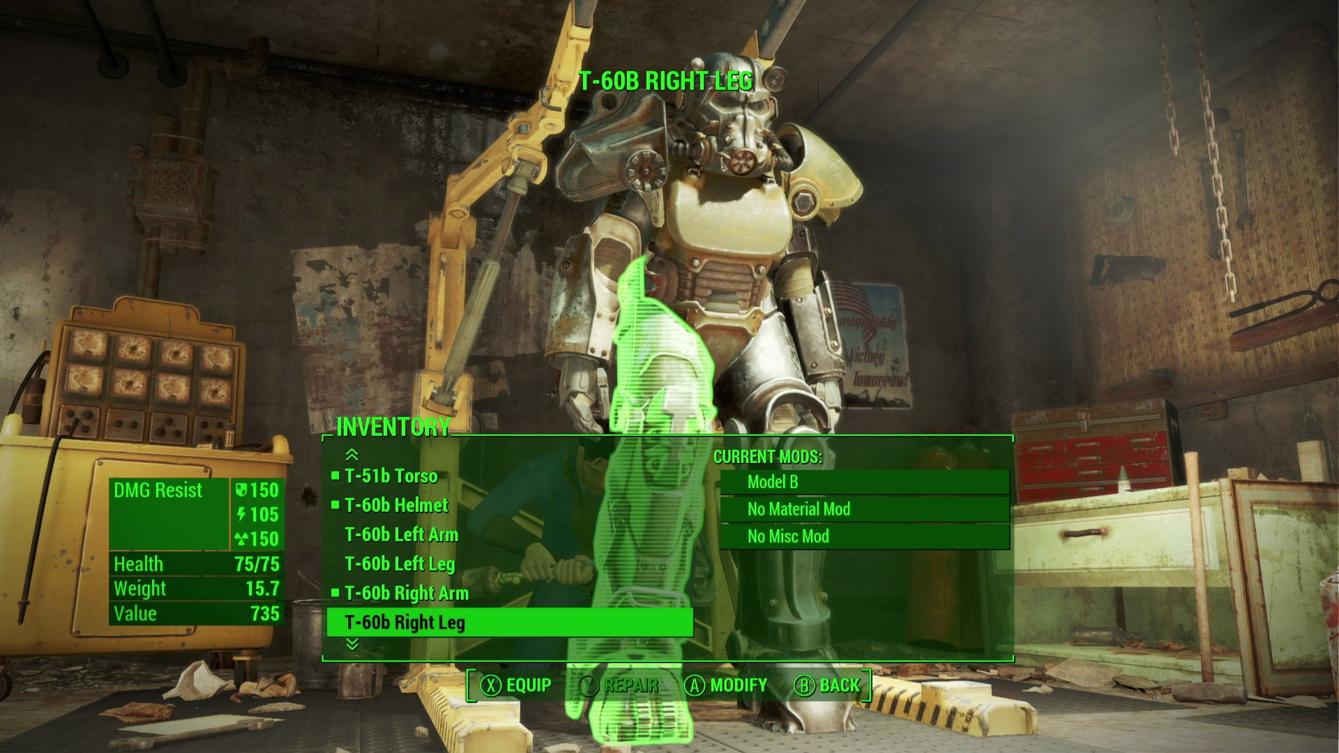 Power Armor Custom Build Options