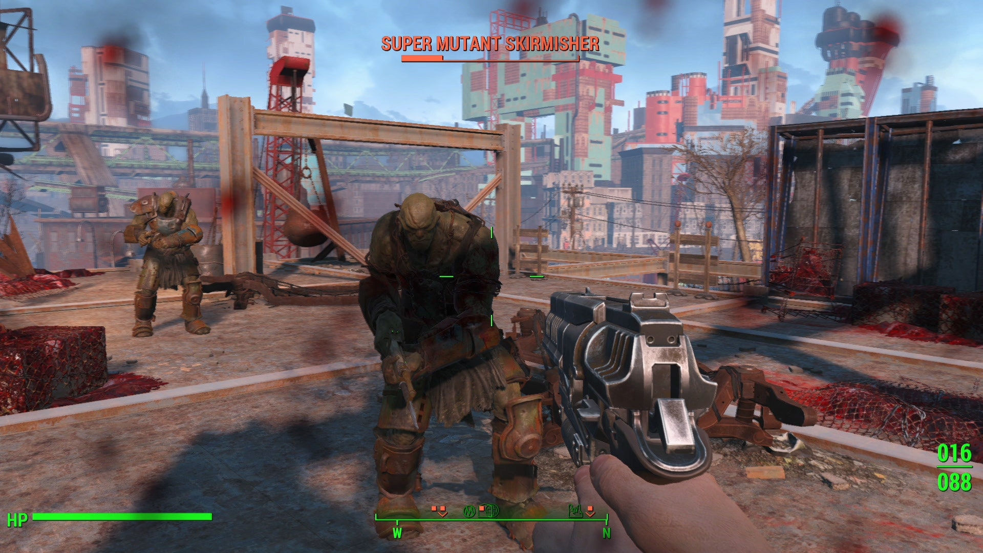 Fighting a Super Mutant