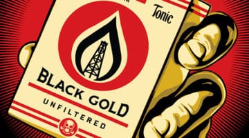 Black Gold Print by Obey