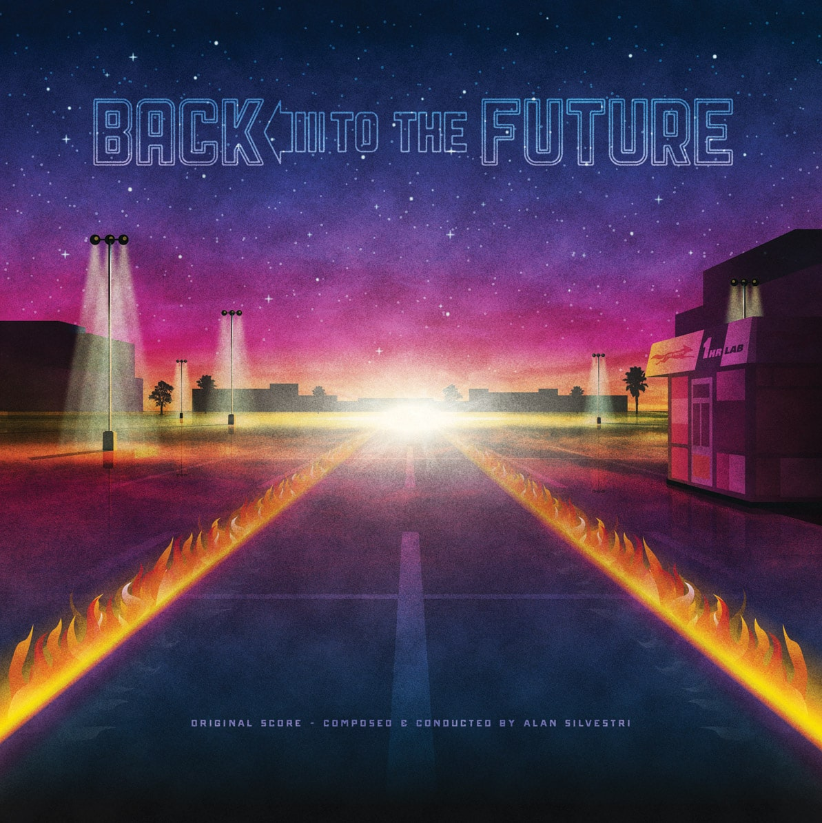 Back to the Future 1 Soundtrack Record Cover by DKNG