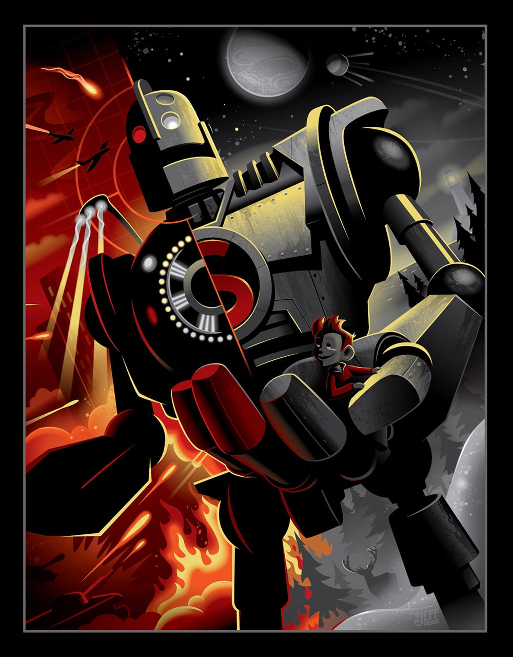Jeff Granito Iron Giant Print