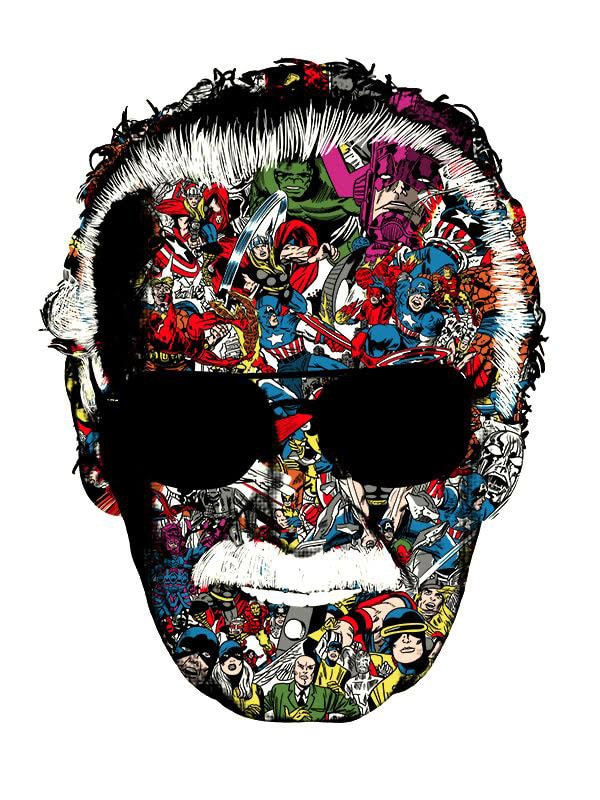 Stan Lee Man of Many Faces Print by Raid71